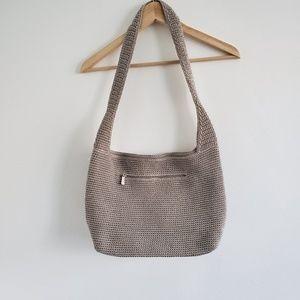 The Sak Gray Crochet Boho Shoulder Bag